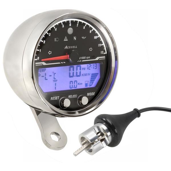 Cafe Racer Gauges : Acewell chrome speedo motorcycle gauges for custom