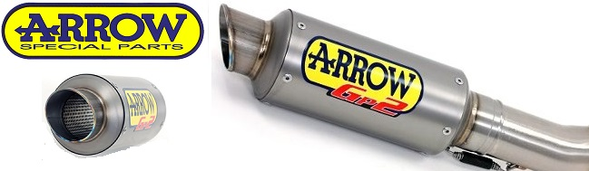 Arrow GP2 exhaust for ZX10R ZX6R S1000RR CBR1000RR R1 R6