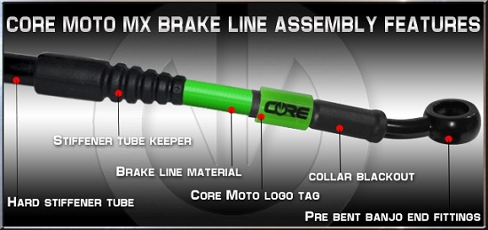 Core Moto MX Brake Lines