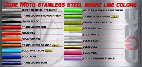 Core Moto Custom Stunt Streetfighter Brake Lines