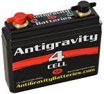 antigravity 4 cell motorcycle battery 2 5 amp hour 120 cca. Black Bedroom Furniture Sets. Home Design Ideas