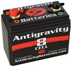 Antigravity 8 Cell Motorcycle Battery (8 AMP Hour, 240 CCA)