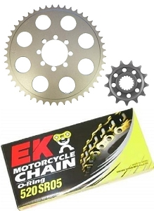520 Sprocket & Chain Conversion Kit 68-73 CB350 Twin