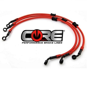 Core Moto Front & Rear Brake Line Kit 13-15 ZX6R / 636 No ABS