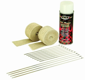 DEI Motorcycle Exhaust Header Wrap Kit - Tan