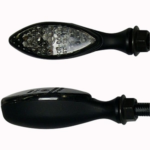 DMP Long Oval Stalk LED Turn Signals - Smoked
