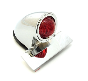 Sparto Chrome Vintage Style Motorcycle Tail Light
