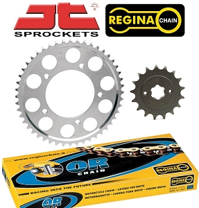 JT Sprockets 530 17/37T Sprocket & Chain Kit 74-78 Honda CB550