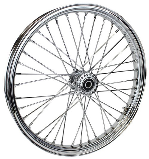 "TC Bros 21"" x 2.15"" 40 Spoke Spool Hub Chrome Front Wheel"
