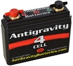 Antigravity 4 Cell Motorcycle Battery (2.5 AMP Hour, 120 CCA)