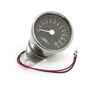 "2.5"" Mini Chrome Cafe Racer Tachometer"