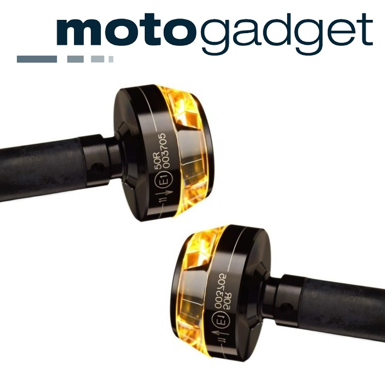 Black Right for 7//8 and 1 Bars Motogadget MG6002012 m-Blaze Disc LED Bar End Turn Signal