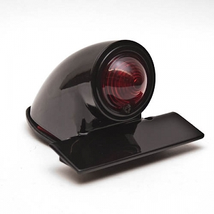 Sparto Black Vintage Style Motorcycle Tail Light