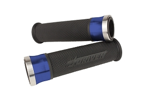 Driven Racing Halo Stainless Steel Motorcycle Grips