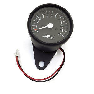 "2.5"" Mini Black Cafe Racer Tachometer"